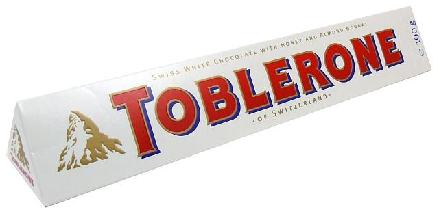 Biała czekolada TOBLERONE, czekoladowy raj na wyciągnięcie ręki!