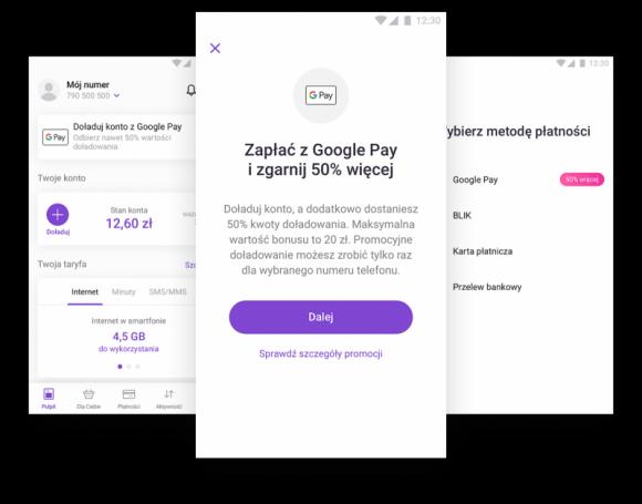 Doładuj konto w aplikacji Play24 z Google Pay i odbierz bonus od Play IT i technologie, LIFESTYLE - Operator Play przy współpracy z Google Pay przygotował prostą promocję, dzięki której można w łatwy sposób zyskać 50% kwoty doładowania przy zasileniu do 40 PLN, lub dodatkowe 20 PLN przy doładowaniach powyżej tej kwoty.